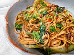 Asian Recipes, Ethnic Recipes, Pak Choï, Parmesan, Spaghetti, Good Food, Woks, Inspiration, Udon Noodles