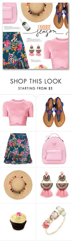 """""""Welcome To St. Tropez, DJ Antoine vs Timati feat. Kalenna"""" by blendasantos ❤ liked on Polyvore featuring T By Alexander Wang, Saloni, Versace, Anja, Elizabeth Cole and Jacquie Aiche"""