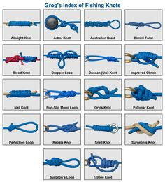 Animation on how to tie the most popular fishing knots.