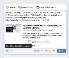 Facebook scheduled post