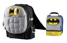 Batman Backpack & Lunch Tote *Both feature Capes*. #Batman #Backpack #Lunch #Tote #*Both #feature #Capes*