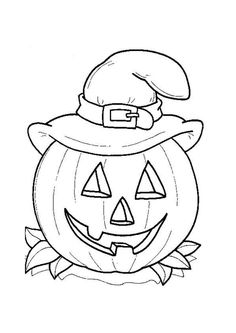 Halloween Pumpkin Coloring Page--little one friendly to put on the windows/walls...they love to decorate