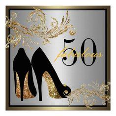 Dancing Shoes | Fabulous 50th Birthday Invitation
