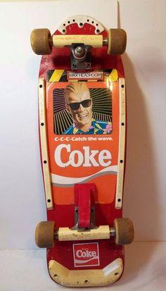 Vintage Variflex Max Headroom Coca Cola Skateboard 80s Coke Street Rage 2 Wheels #Variflex