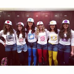 Social media Halloween costume! Love to do this with my best friends what a great Idea!!