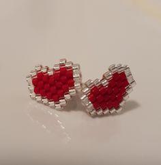 Beaded Dragonfly, Beaded Skull, Brick Stitch Earrings, Seed Bead Earrings, Diy Earrings Easy, Earrings Handmade, Bead Jewellery, Beaded Jewelry, Crochet Earrings Pattern