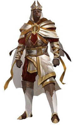 Male White Mantle Armor