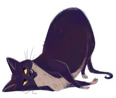 Good bad cat — dailycatdrawings.Tumblr