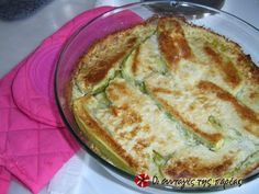 Great recipe for Baked zucchinis with feta cheese. Recipe by Φιλιω Vegetable Recipes, Vegetarian Recipes, Cooking Recipes, Feta Cheese Recipes, Bake Zucchini, Greek Cooking, Appetizer Salads, Appetisers, Mediterranean Recipes