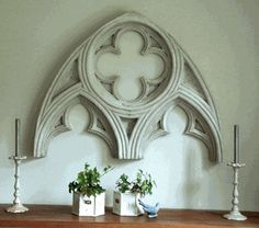 Gothic Architectural Arch Wall Piece House And Garden Plaque Architectual Element Usa