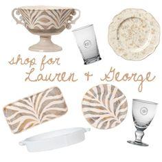 Lauren Daniel & George Rauton - Shop their entire registry @ http://charlestonstreet.com/registry.asp?action=view&id=1961