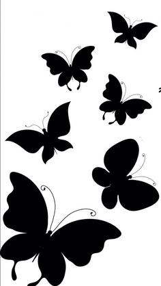 Black Butterfly Tattoo, Butterfly Drawing, Butterfly Wallpaper, Pencil Art Drawings, Art Drawings Sketches, Easy Drawings, Wall Painting Decor, Mural Wall Art, 3d Quilling