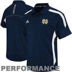 adidas Notre Dame Fighting Irish 2012 Coaches Sideline Performance Polo - Navy Blue