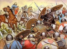 871 King Ethelred of Wessex and his brother Alfred (the Great) defeated the Danish Vikings at the Battle of Ashdown. Alfredo O Grande, Ancient Rome, Ancient History, Anglo Saxon Kingdoms, Alfred The Great, Germanic Tribes, Empire Romain, Early Middle Ages, European History