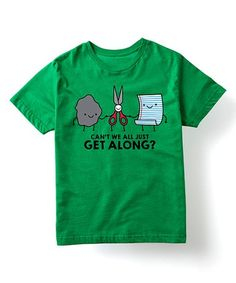Loving this Kelly Green 'Can't We All Just Get Along' Tee - Toddler & Kids on #zulily! #zulilyfinds