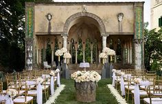 Outdoor ceremony for the Ravello wedding of Katrina and David http://www.weddingsontheamalficoast.com/ravello-wedding-katrina-david.html