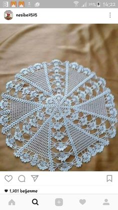 This Pin was discovered by Tuula Maaria - Crochet Free Crochet Doily Patterns, Crochet Circles, Crochet Motifs, Thread Crochet, Filet Crochet, Crochet Doilies, Crochet Flowers, Crochet Stitches, Knitting Patterns