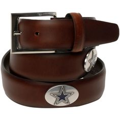NFL Dallas Cowboys Leather Tapered Belt - Tan