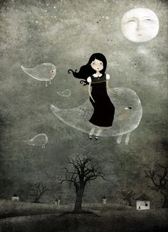 The little girl paintings of Anne-Julie Aubry - THE NIGHTMARE NETWORK