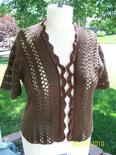 "Lakota Bird crochet cardigan pattern by Marlaina ""Marly"" Bird 