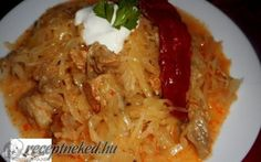 Érdekel a receptje? Kattints a képre! Thai Red Curry, Ale, Grains, Chicken, Meat, Ethnic Recipes, Foods, Hungary, Red Peppers