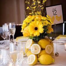 lemon, gerbera and yellow flowers
