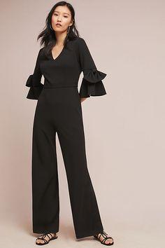 a14c989797c Slide View  1  Donna Morgan Bell-Sleeved Jumpsuit Romper Dress