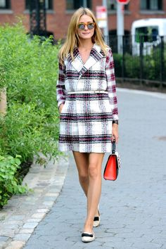 The New Way To Wear Plaid (According To Olivia Palermo)   The Zoe Report