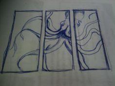 octopus sketch- pen and napkin