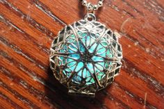 Silver Plated Filigree Glow In The Dark Celtic Galaxy Locket Necklace on Etsy, $25.00