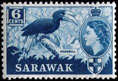 RP: Sarawak 6 cents Commonwealth Stamp, 1953