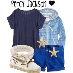 Percy Jackson -- The Heroes of Olympus by evil-laugh on Polyvore featuring polyvore, fashion, style, Calypso St. Barth, Aéropostale, American Eagle Outfitters, Sperry Top-Sider, percyjackson and theheroesofolympus