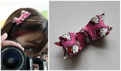 Hello Kitty Duct Tape Hair Accesories: Part 2 Hairbows