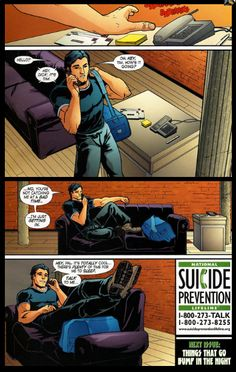 Tim has always had a hard time with the vigilante life, and Dick is always there for him.