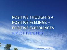 Positive thoughts empower us with hope. #people #emotions