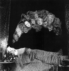 """""""I began to take apart the deep stitches of nightmares.""""― Mary Oliver Rip Mary Oliver (September 1935 – January Visual art: """"Dreams of transformation"""" - tableau vivant by American artist Steven Arnold Nocturne, Steven Arnold, Monochrome, Dream Images, Beautiful Pictures, Dreams And Nightmares, The Uncanny, Macabre, Portrait"""