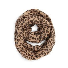 Women's Bp. Leopard Pattern Infinity Scarf ($25) ❤ liked on Polyvore featuring accessories, scarves, tan multi, leopard infinity scarves, leopard circle scarf, leopard shawl, leopard print scarves and loop scarf