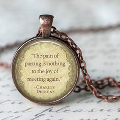 CHARLES DICKENS Quote Pendant Necklace The by LiteraryArtPrints #jewerly #necklaces