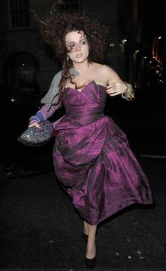 Helena Bonham Carter  - Love the dress and the crazy hair :)