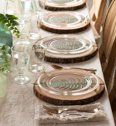 Made from durable, titanium-coated stainless steel, a copper finish adds lustrous sheen to the timeless shape of this copper flatware set. Place Settings, Table Settings, Clear Glass Plates, Glass Dishes, Wood Chargers, Flatware Set, Dining Room Table, Event Decor, Dinner Plates