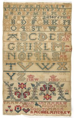 Philadelphia Museum of Art -  Sampler by Rachel Andrew, mid-18th, Scotland