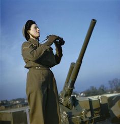 ATS at an Anti-Aircraft Gun site, dec 1942