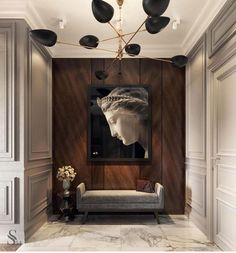ideas house entrance architecture design for 2019 Painted Wood Walls, Wood Panel Walls, Wood Paneling, Paneling Ideas, Flooring Ideas, Dark Interiors, Wood Interiors, Office Interiors, Interior Office