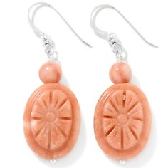 Jay King Carved Citrus Swirl Stone Sterling Silver Earrings at HSN.com.