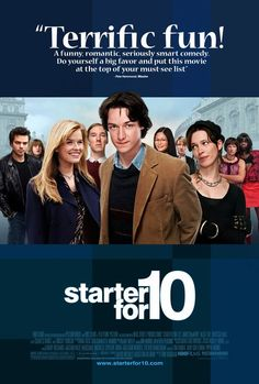 Starter for 10 (2006) GB BBC Prod: Tom Hanks and Sam Mendes. James McAvoy, Alice Eve, Rebecca Hall, Benedict Cumberbatch, Dominic Cooper, Catherine Tate, Mark Gatiss, James Corden, Lindsay Duncan, Charles Dance. (6/10) 01/09/14