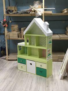 Кукольный домик-стеллаж на 6 комнат Green tea (с комодом и обоями) – купить или заказать в интернет-магазине на Ярмарке Мастеров | Самый большой домик в своей коллекции на…