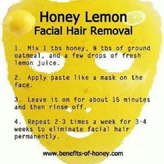 lemon/oatmeal/honey facial hair remover...this couldn't possibly work, could it?