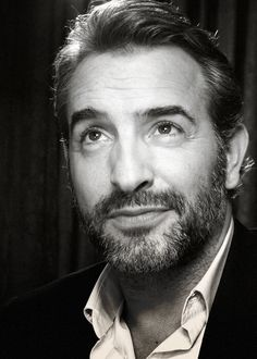 George Clooney wishes he were this hot. Jean Dujardin, Great Beards, George Clooney, Michel, X Men, Movie Stars, Black And White, Film, People