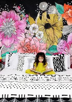 You Have to See These 7 Perfect. You Have to See These 7 Perfect Rooms Love Music Festival Fashion? You Have to See These 7 Perfect Rooms Girl Room, My Room, Girls Bedroom, Bedroom Decor, Bedroom Murals, Bedroom Office, Bedroom Wallpaper, Wallpaper Ideas, Childs Bedroom