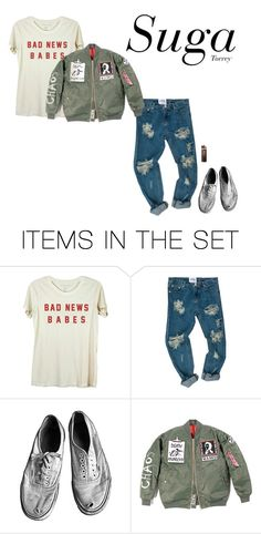 """I NEED U mv outfit female version of hyung line"" by effie-james ❤ liked on Polyvore featuring art, simple, kpop, korean, bts and Suga"